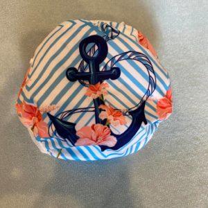 Herbruikbare / verstelbare zwemluier met anker en bloem