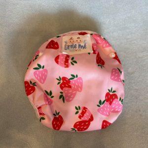 Herbruikbare / verstelbare zwemluier met aardbeien ( roze )