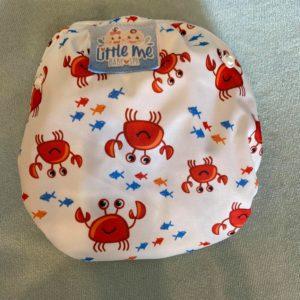Herbruikbare / verstelbare zwemluier met krabbetjes